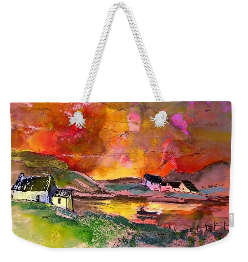 Scotland Paintings Weekender Tote Bag featuring the painting Scotland 07 by Miki De Goodaboom
