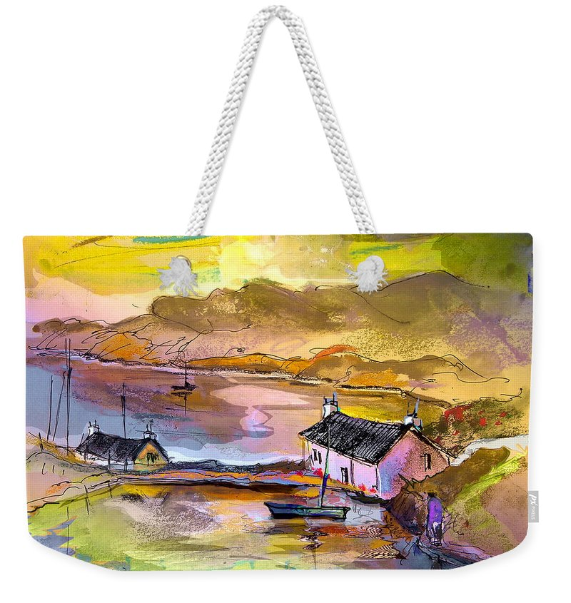 Scotland Paintings Weekender Tote Bag featuring the painting Scotland 11 by Miki De Goodaboom