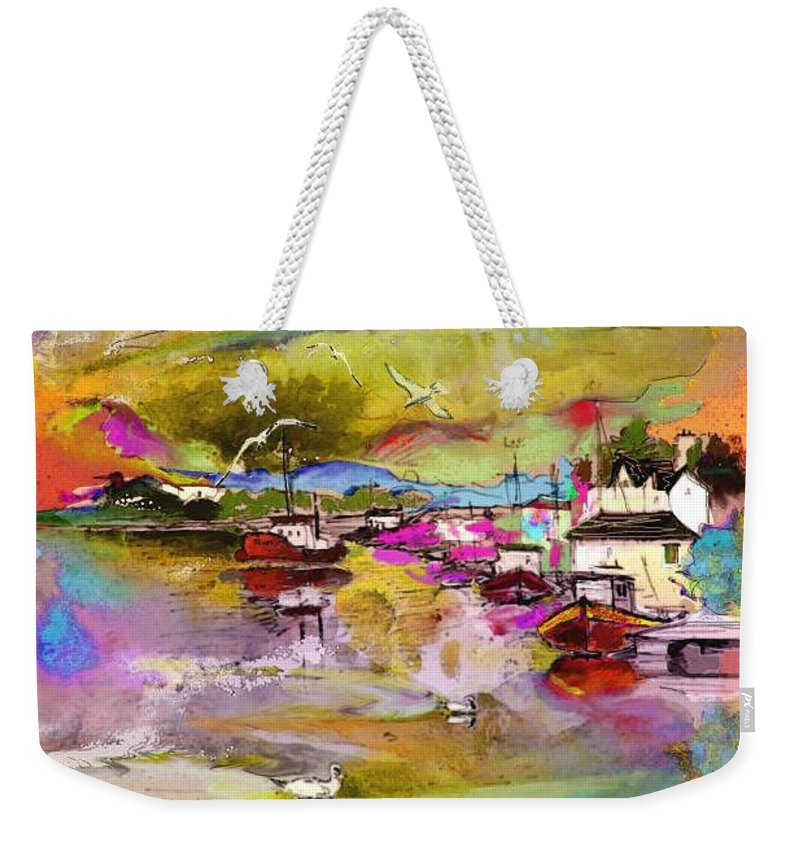 Scotland Paintings Weekender Tote Bag featuring the painting Scotland 13 by Miki De Goodaboom