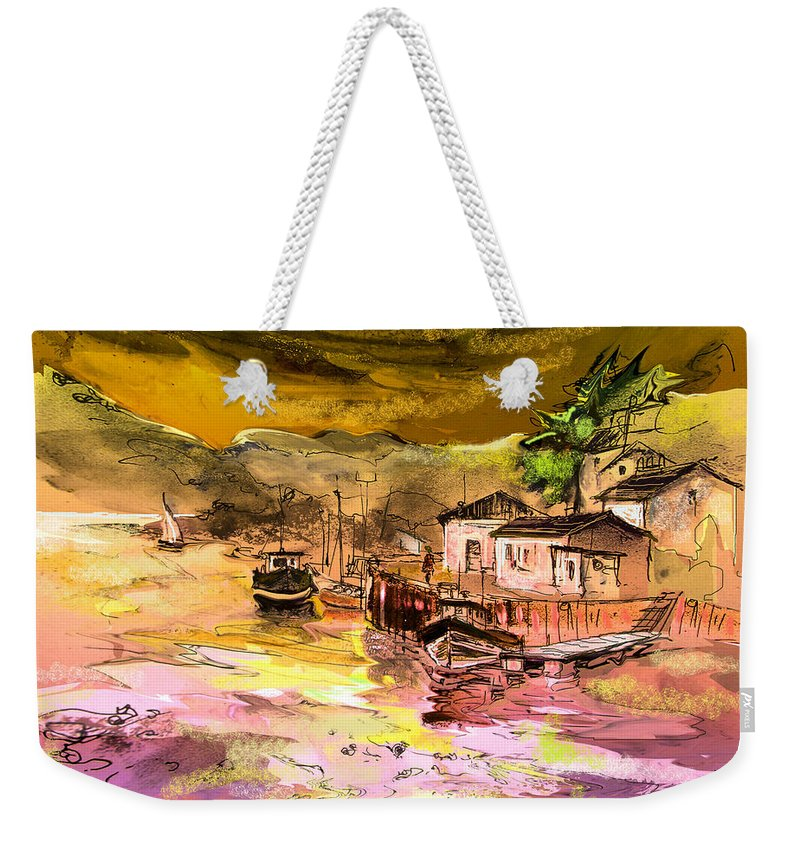 Scotland Paintings Weekender Tote Bag featuring the painting Scotland 14 by Miki De Goodaboom