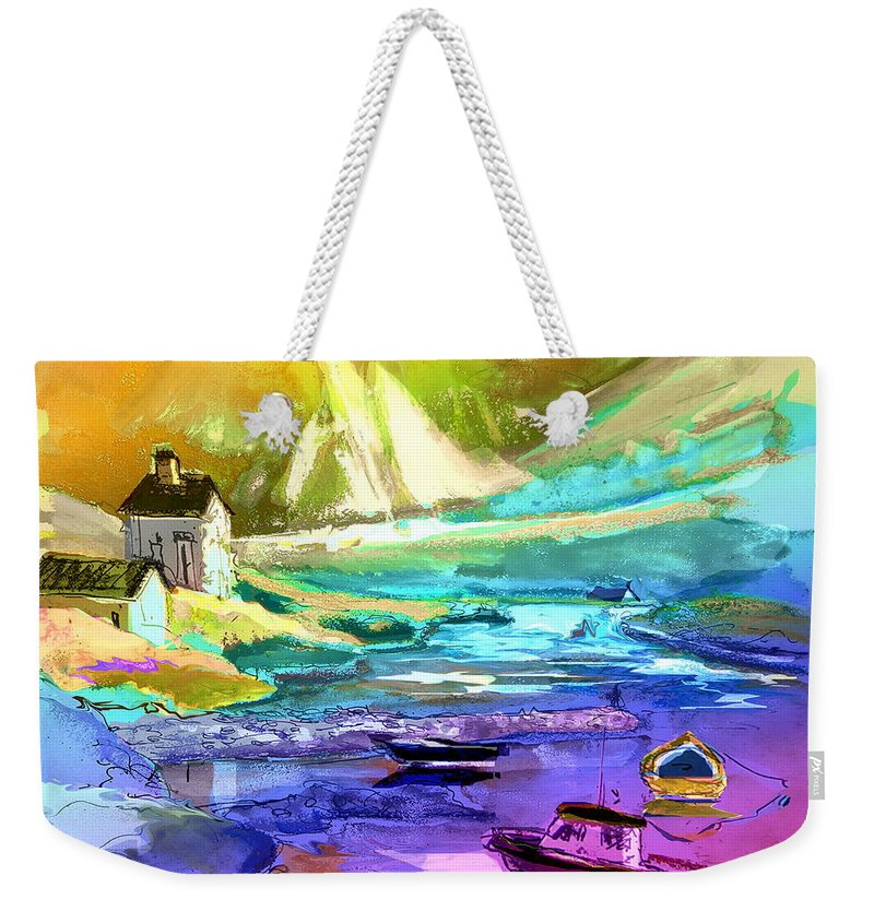 Scotland Paintings Weekender Tote Bag featuring the painting Scotland 15 by Miki De Goodaboom