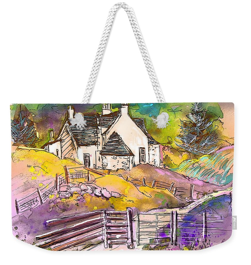 Scotland Paintings Weekender Tote Bag featuring the painting Scotland 16 by Miki De Goodaboom