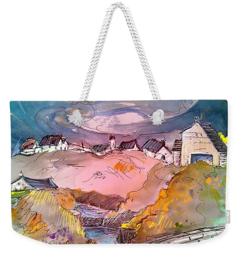 Scotland Paintings Weekender Tote Bag featuring the painting Scotland 17 by Miki De Goodaboom