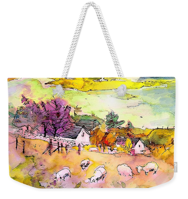 Scotland Weekender Tote Bag featuring the painting Scotland 20 by Miki De Goodaboom