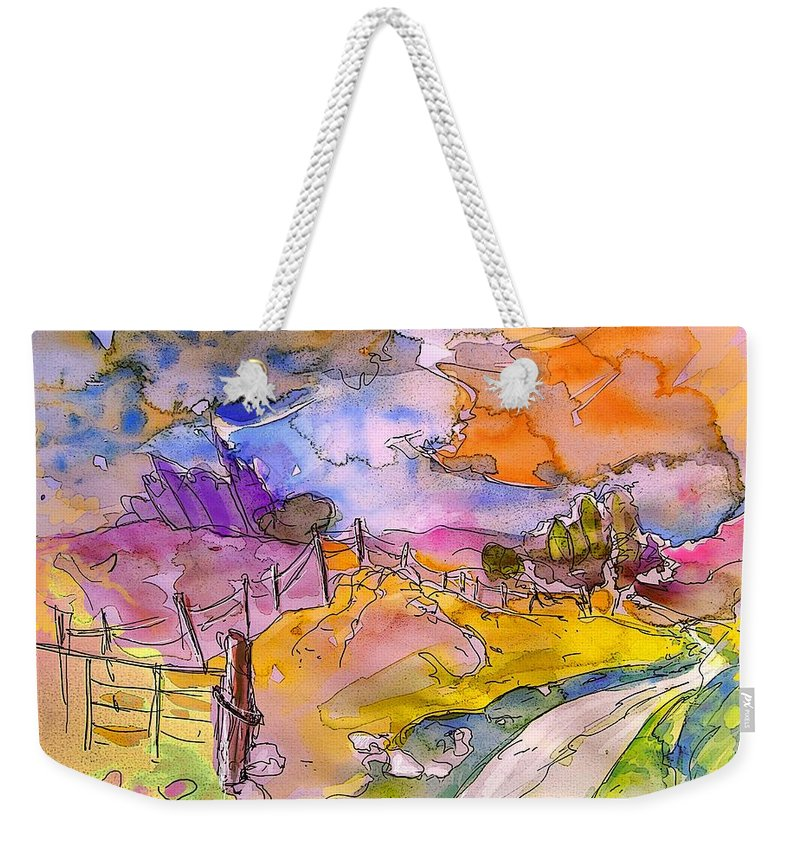 Scotland Weekender Tote Bag featuring the painting Scotland 22 by Miki De Goodaboom