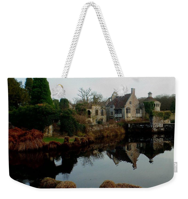 Castle Weekender Tote Bag featuring the photograph Scotney Castle by Gail Schmiedlin