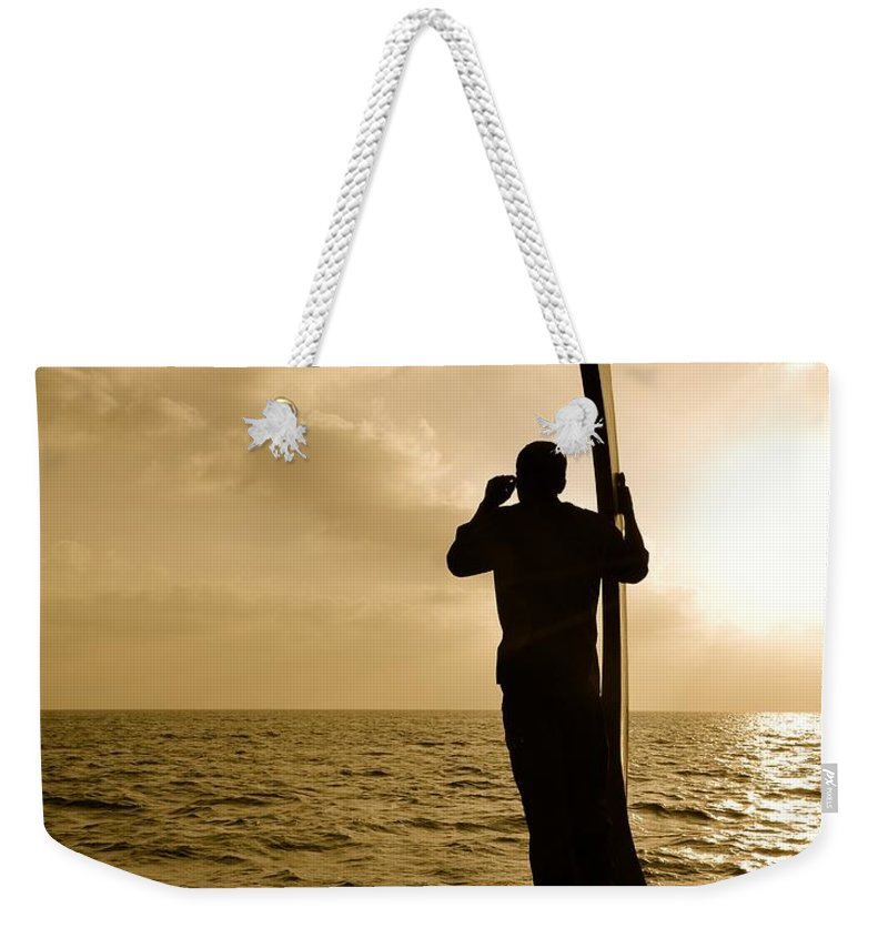 Horizon Weekender Tote Bag featuring the photograph Searching by Corinne Rhode