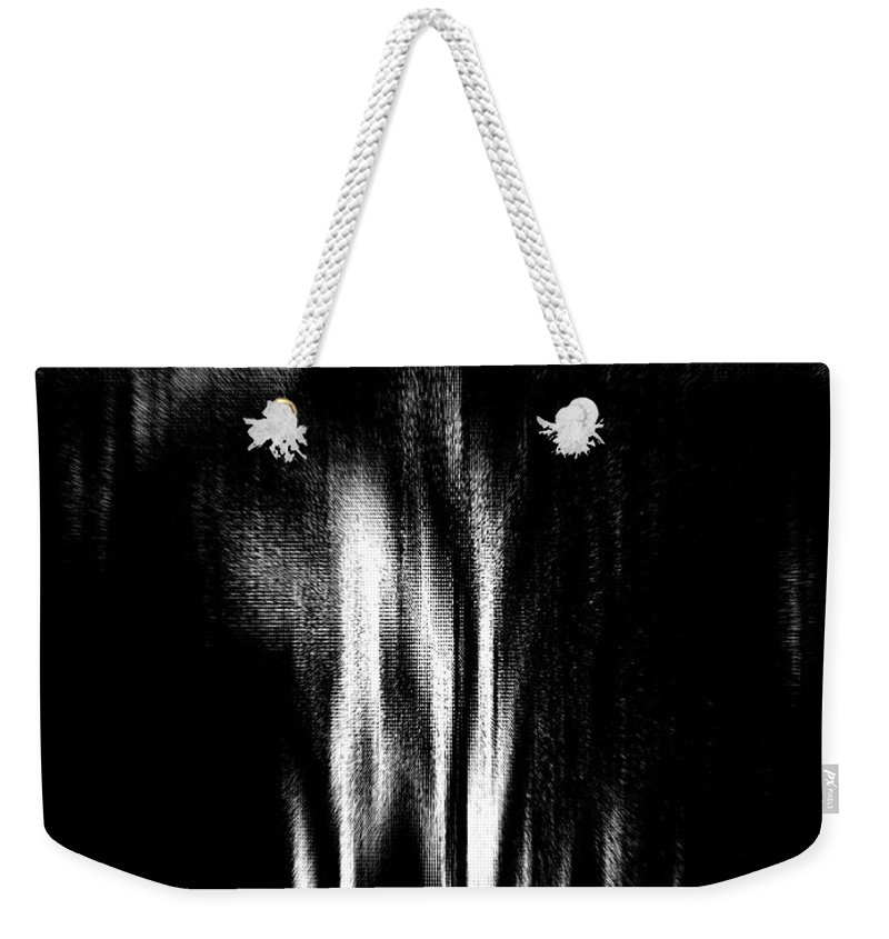 Black Weekender Tote Bag featuring the photograph Scream by Charleen Treasures