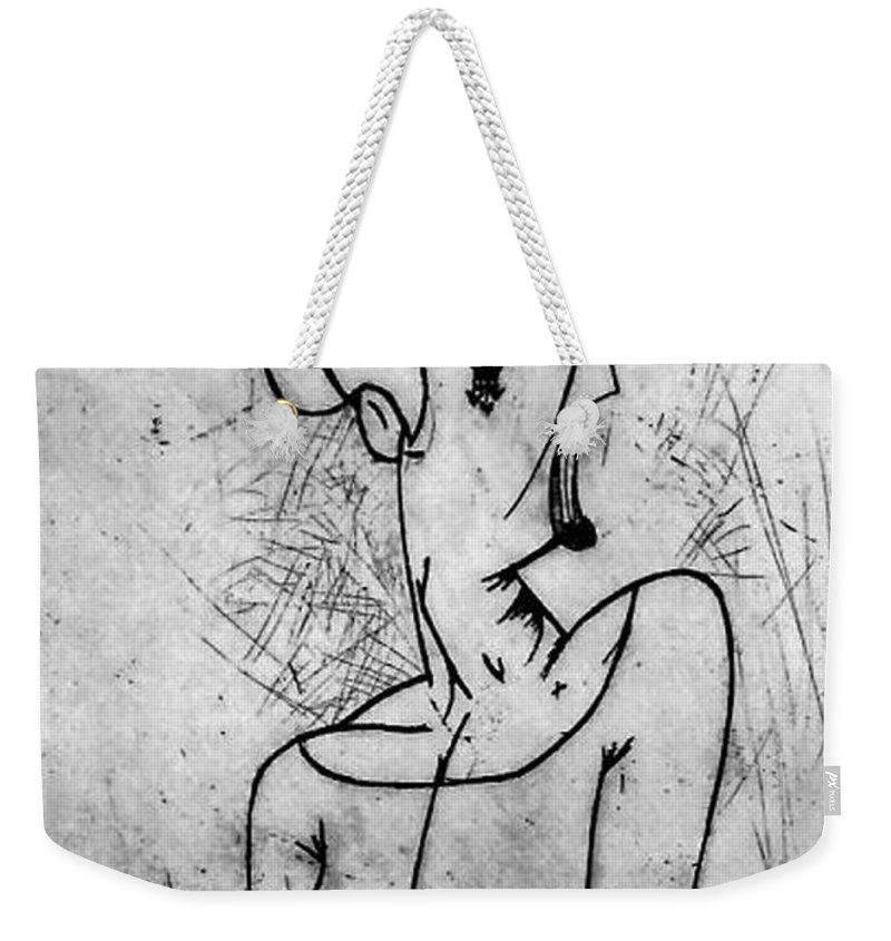 Misc Weekender Tote Bag featuring the relief Screamer by Thomas Valentine