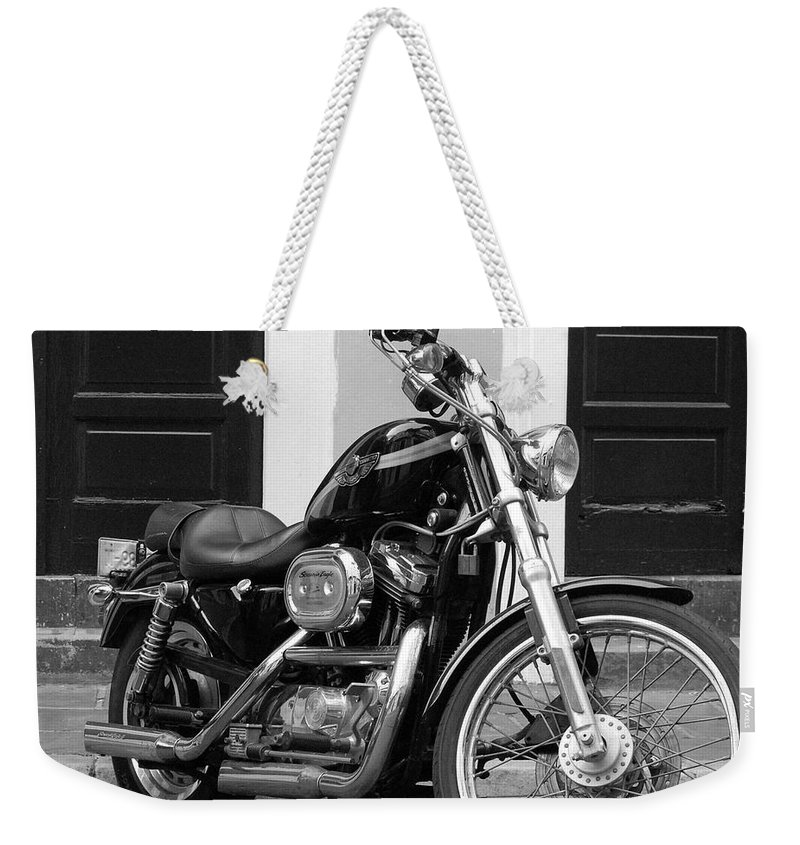 Motorcycle Weekender Tote Bag featuring the photograph Screamin Eagle by Debbi Granruth