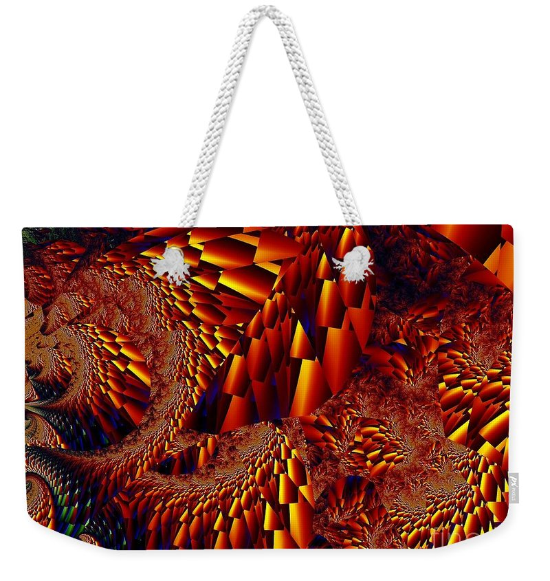 Scree Slope Weekender Tote Bag featuring the digital art Scree Slopes by Ron Bissett