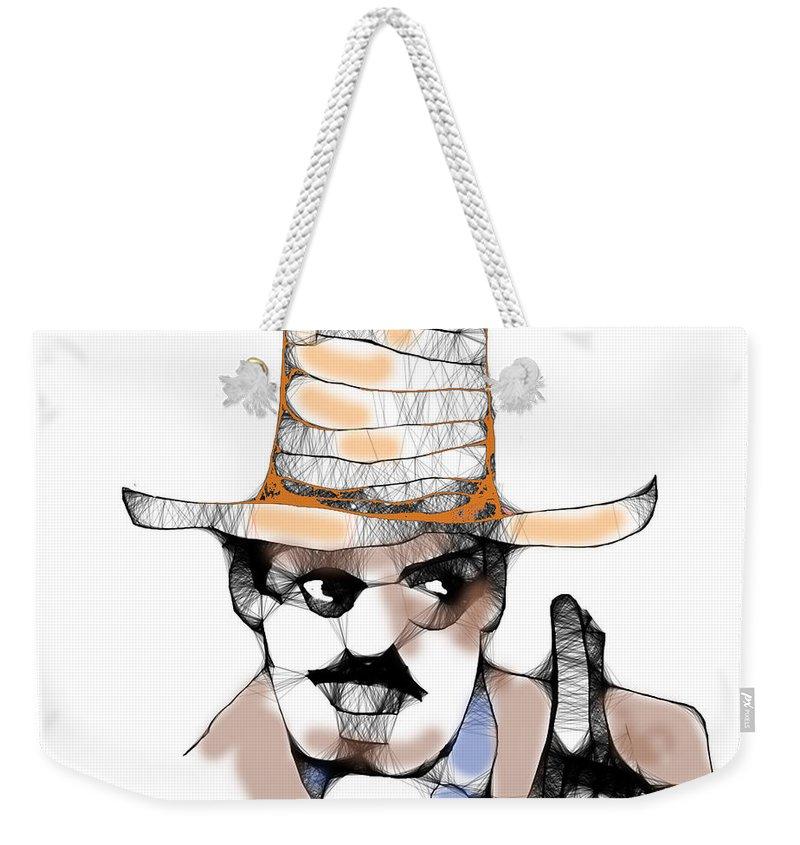 Scribbler Cowboy Weekender Tote Bag featuring the digital art Scribbler Cowboy by Seth Weaver
