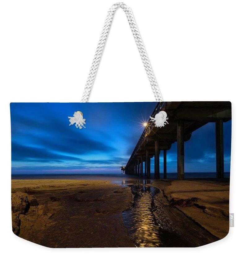 Scripps Pier Weekender Tote Bags