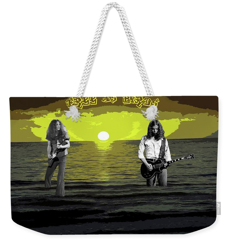 Art Weekender Tote Bag featuring the photograph Sea Birds At The Sunset #2 by Ben Upham