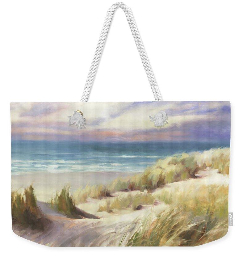 Ocean Weekender Tote Bag featuring the painting Sea Breeze by Steve Henderson