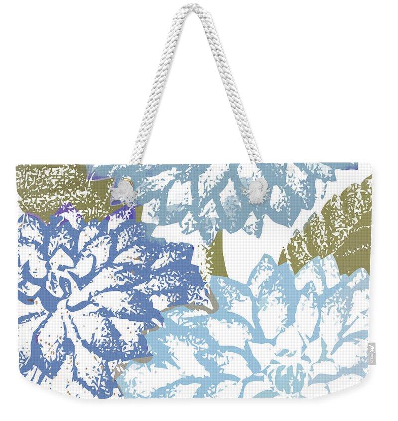 Dahlia Flower Weekender Tote Bags