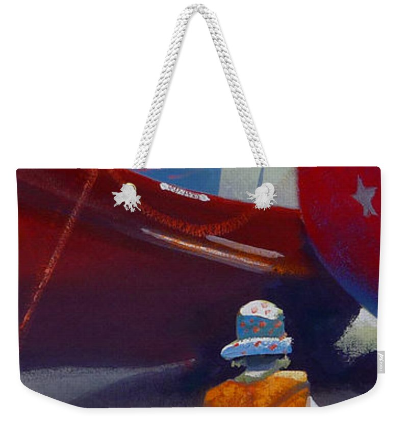 Dreamscape Weekender Tote Bag featuring the painting Sea Dreamer by Charles Stuart