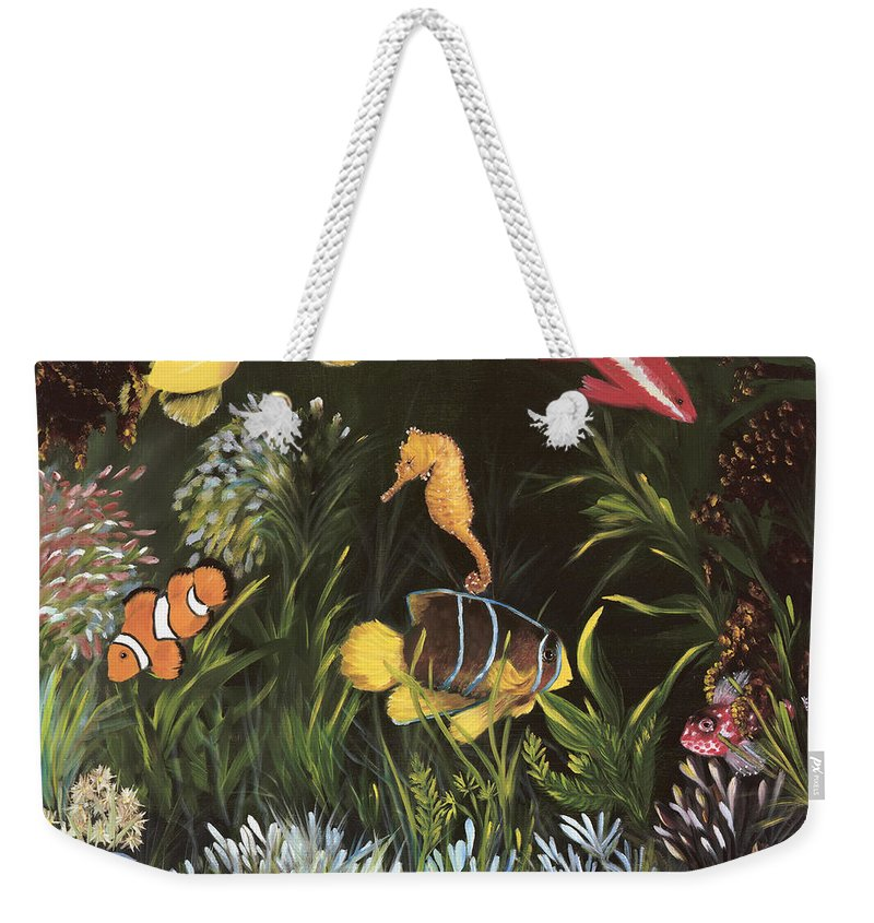 Sea Weekender Tote Bag featuring the painting Sea Harmony by Carol Sweetwood