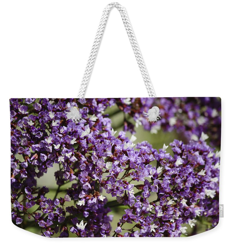 Sea Weekender Tote Bag featuring the photograph Sea Lavender by Teresa Mucha