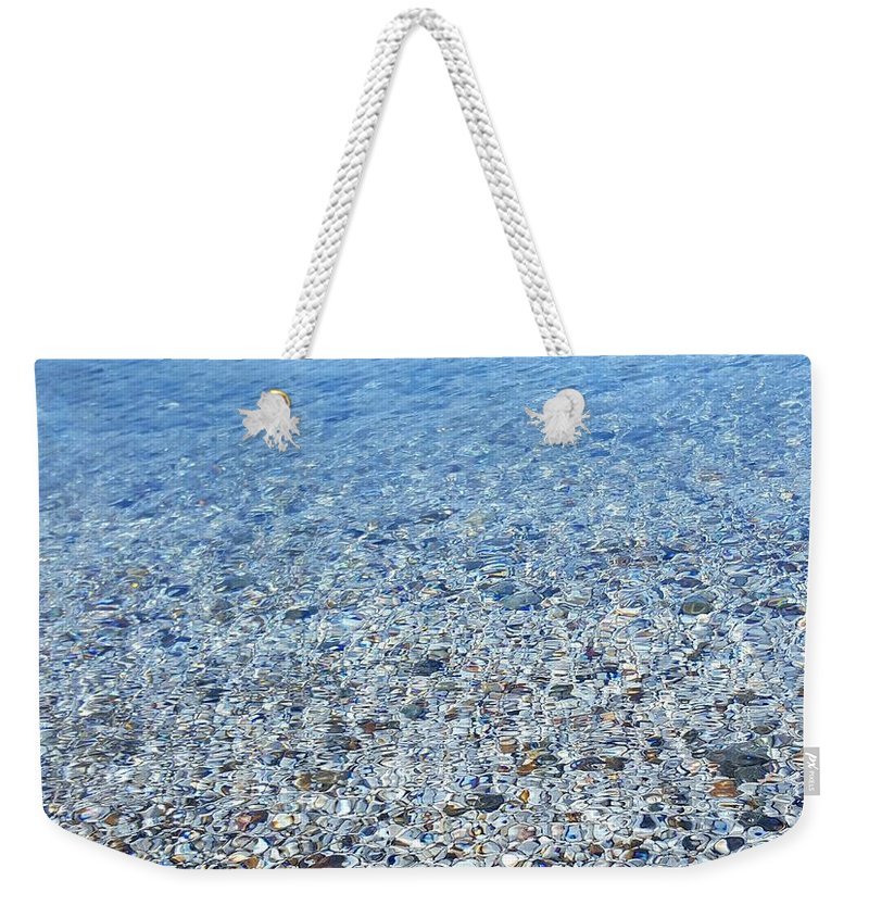 Sea Weekender Tote Bag featuring the photograph sea by Leyla Gurlek