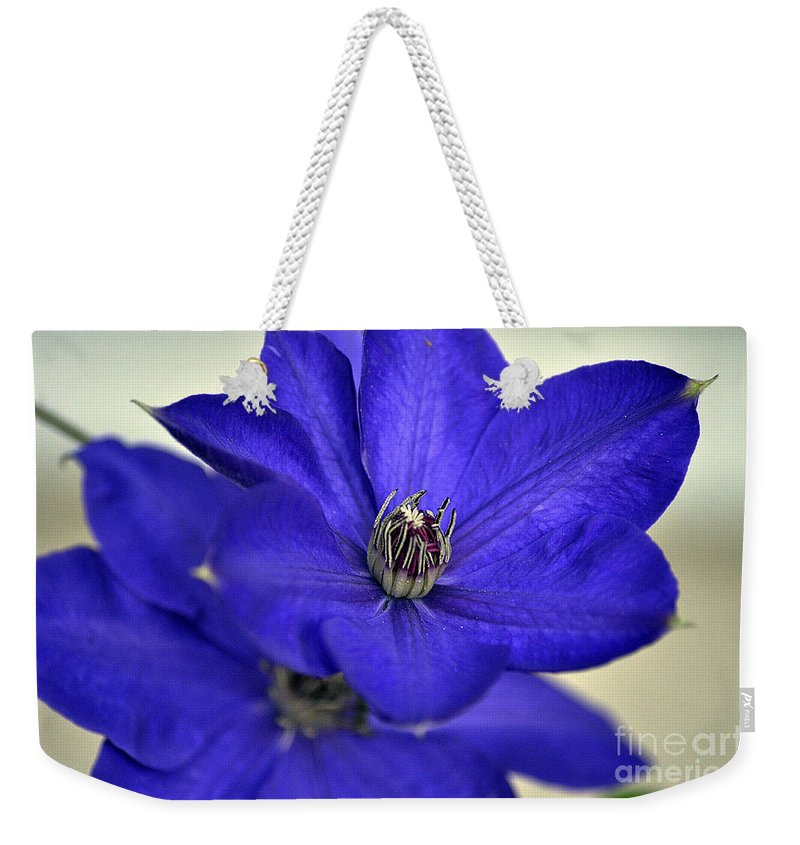 Clay Weekender Tote Bag featuring the photograph Sea Of Blue by Clayton Bruster