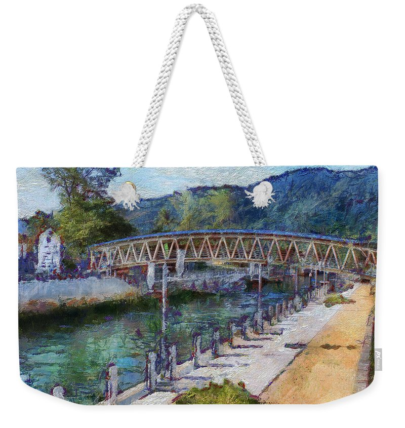 Sea Port Weekender Tote Bag featuring the photograph Sea Port On The Island Of Tioman by Sergey Lukashin