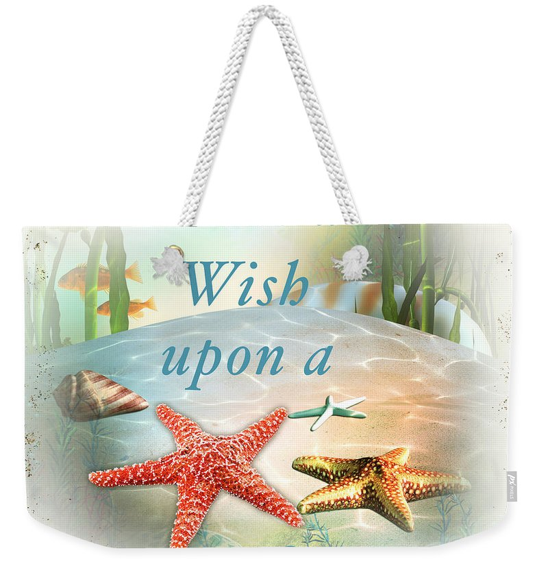 Nautical Weekender Tote Bag featuring the painting Sea Side-jp2735 by Jean Plout