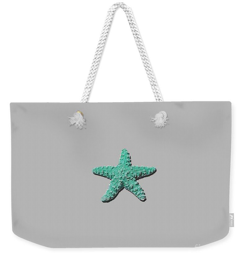 Sea Star Weekender Tote Bag featuring the photograph Sea Star Aqua .png by Al Powell Photography USA