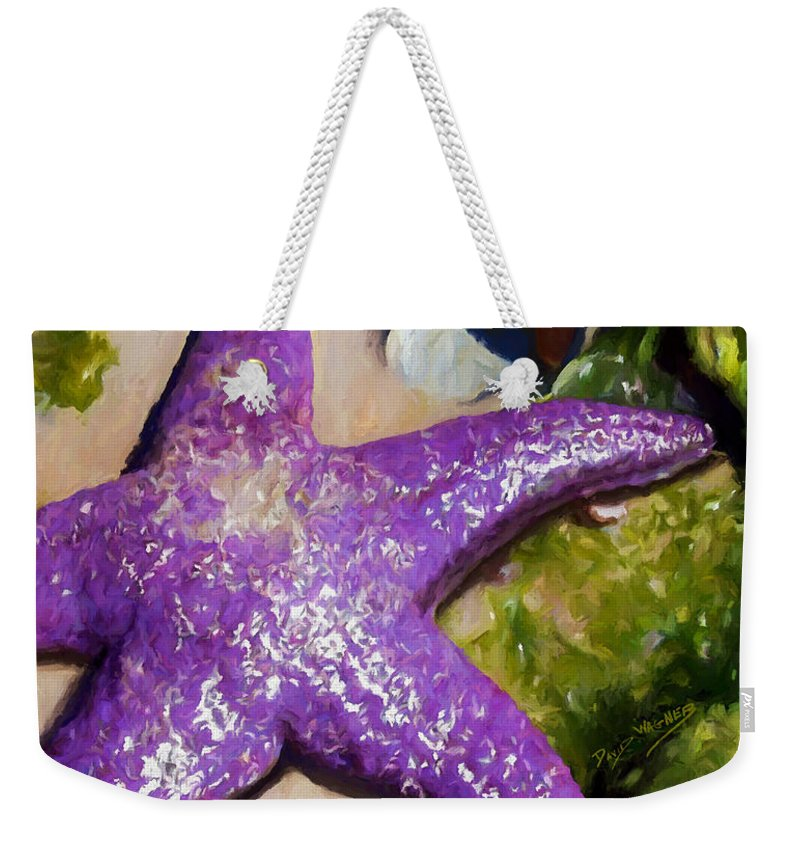 Sea Stars Weekender Tote Bag featuring the painting Sea Stars by David Wagner