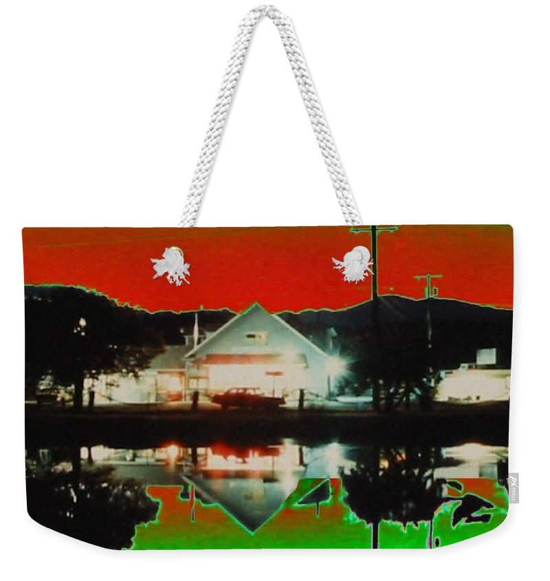 Seabeck Weekender Tote Bag featuring the photograph Seabeck General Store by Tim Allen
