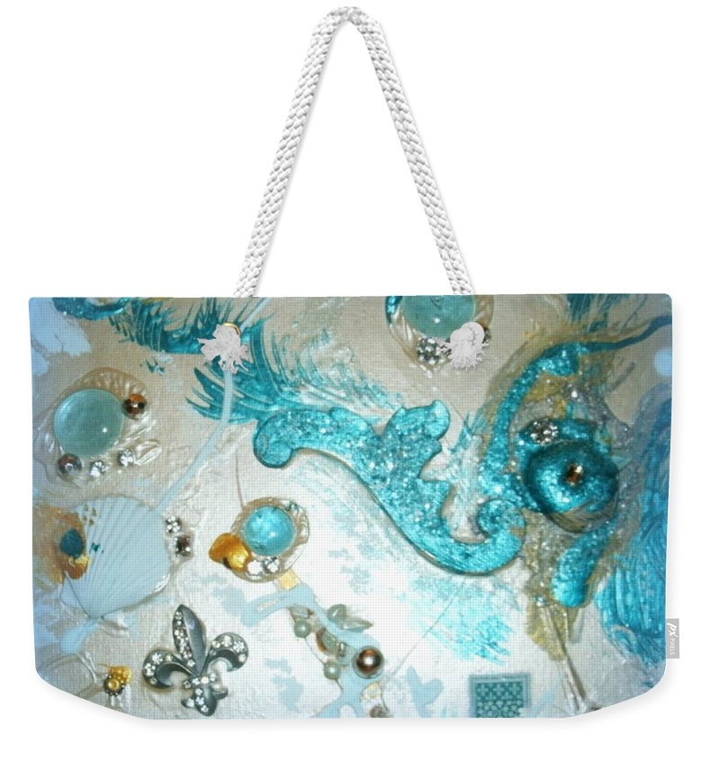 Weekender Tote Bag featuring the photograph Seablue by Jacqueline Manos