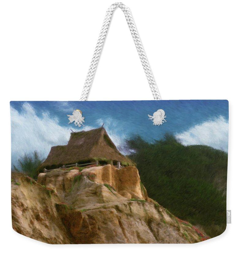 Seaside Weekender Tote Bag featuring the painting Seacliff House by Geoffrey C Lewis