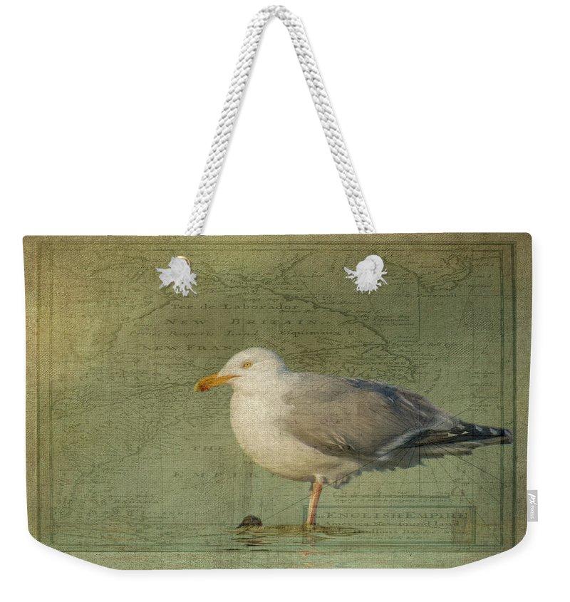 Vintage Weekender Tote Bag featuring the photograph Seafarer by Cathy Kovarik
