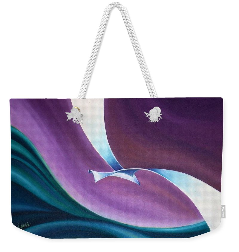 Seagull Weekender Tote Bag featuring the painting Seagull by Ilaria Andreucci
