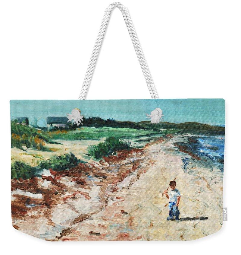 Beach Weekender Tote Bag featuring the painting Sean by Rick Nederlof