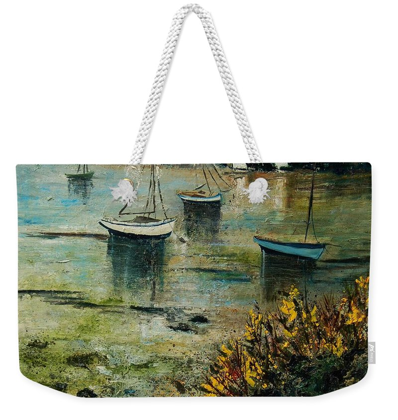 Seascape Weekender Tote Bag featuring the print Seascape 78 by Pol Ledent