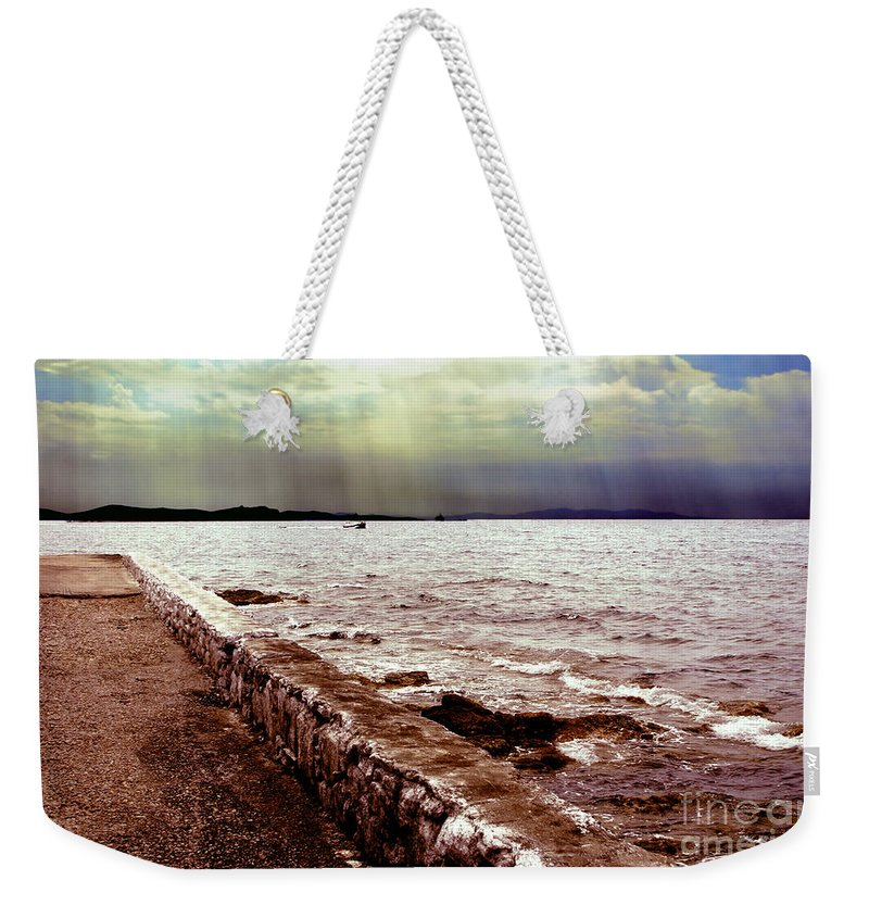 Sea Weekender Tote Bag featuring the photograph Seascape by Madeline Ellis