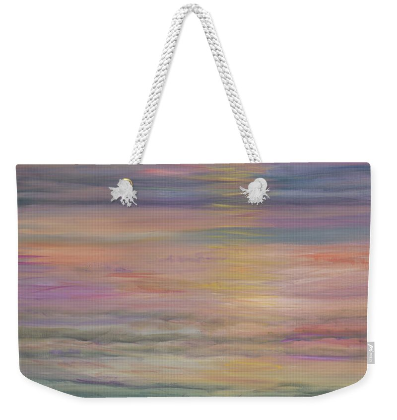 Sea Weekender Tote Bag featuring the painting Seascape by Nadine Rippelmeyer