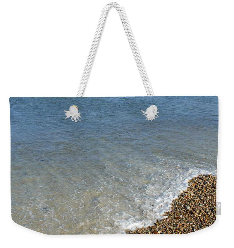 Sea Weekender Tote Bag featuring the photograph Seashore by Charles Harden