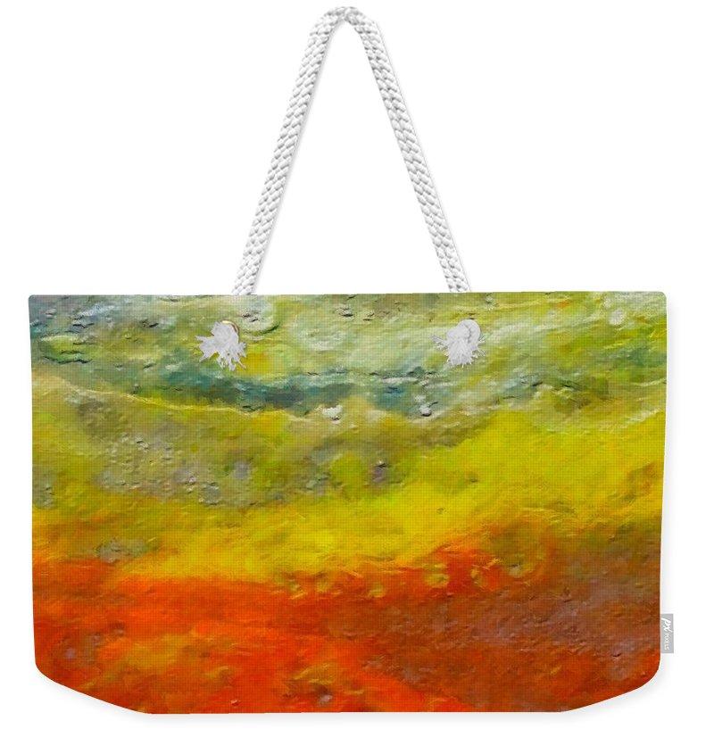 Seashore Weekender Tote Bag featuring the painting Seashore by Dragica Micki Fortuna