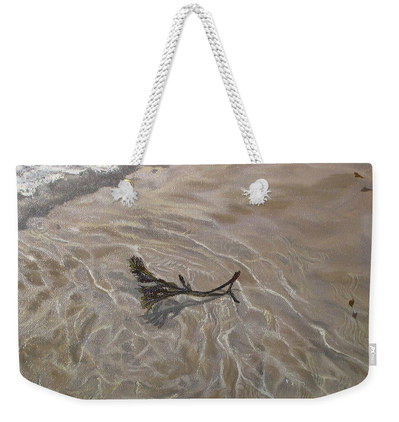 Seascape Weekender Tote Bag featuring the painting Seashore Reflections by Lea Novak