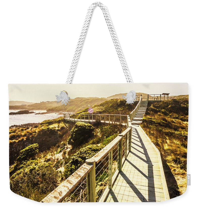 Promenade Weekender Tote Bag featuring the photograph Seaside Perspective by Jorgo Photography - Wall Art Gallery