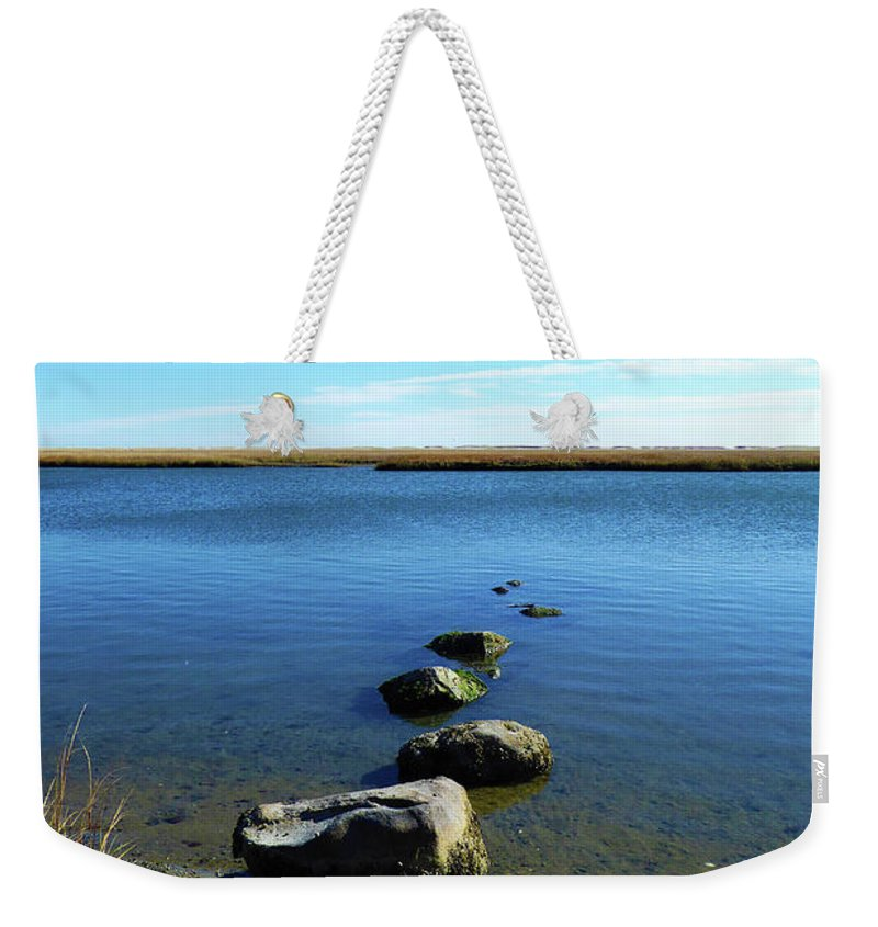 Nature Weekender Tote Bag featuring the photograph Seaside Rocks by Steven Scanlon
