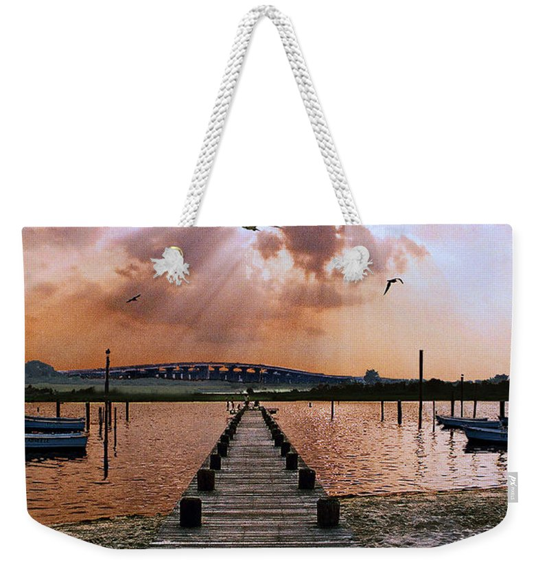 Seascape Weekender Tote Bag featuring the photograph Seaside by Steve Karol