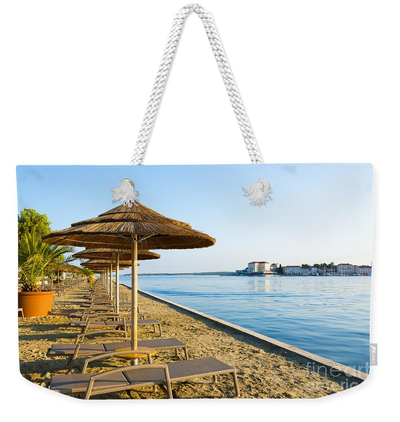 Bay Weekender Tote Bag featuring the photograph Seaside Time by Svetlana Sewell