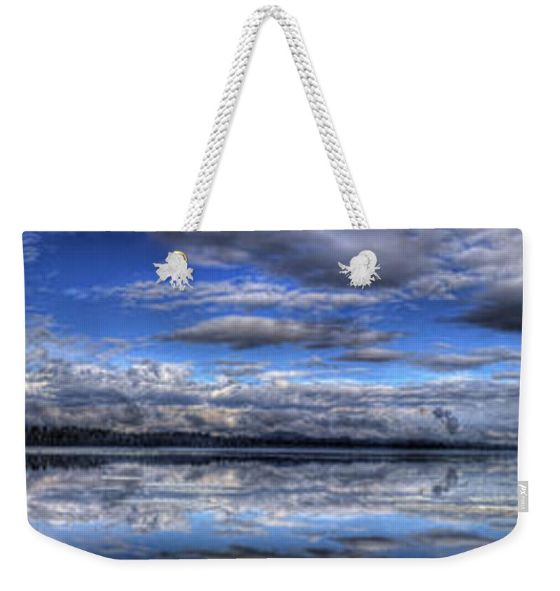 Landscape Weekender Tote Bag featuring the photograph Seasons Panorama by Lee Santa