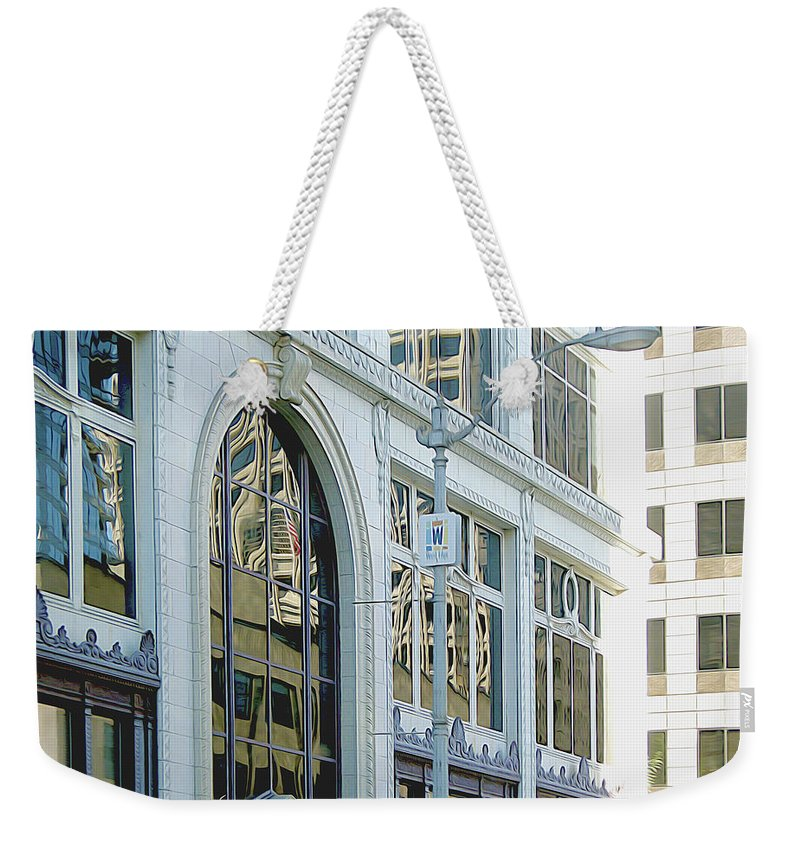 Architecture Weekender Tote Bag featuring the photograph Seattle Architecture by Linda Carruth