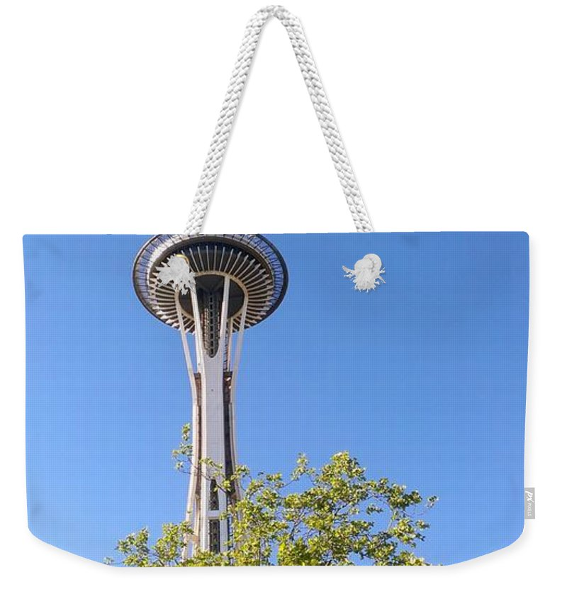 Space Needle Weekender Tote Bag featuring the photograph Seattle Architecture by LKB Art and Photography