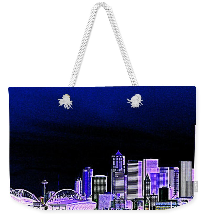Seattle Weekender Tote Bag featuring the photograph Seattle Blue 2 by Nick Gustafson