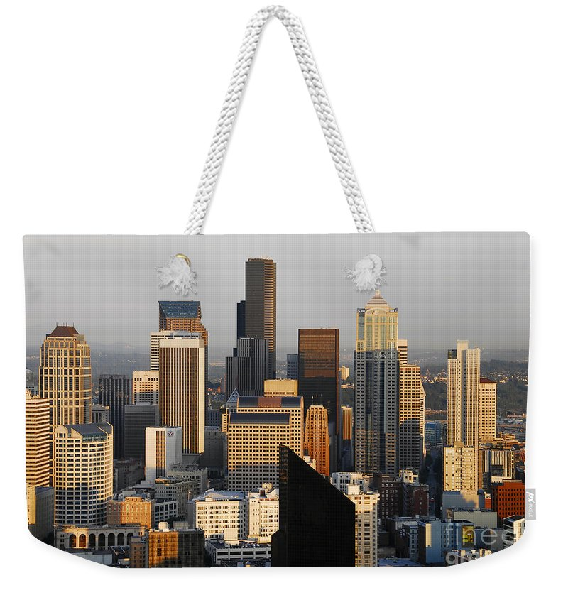 Seattle Washington Weekender Tote Bag featuring the photograph Seattle by David Lee Thompson